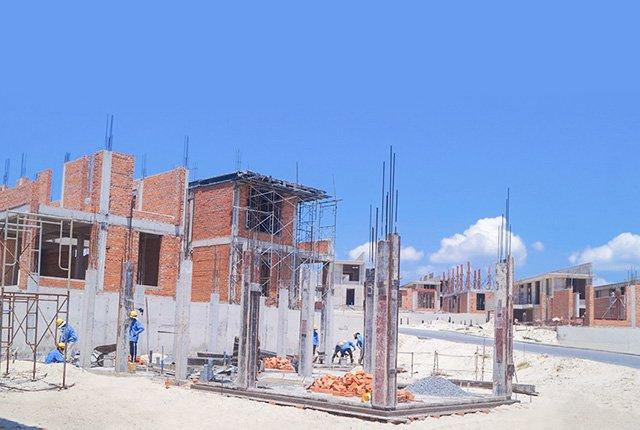 Công tác thi công cốp pha, cốt thép trụ tầng 1 Khu J Cam Ranh Mystery Villas